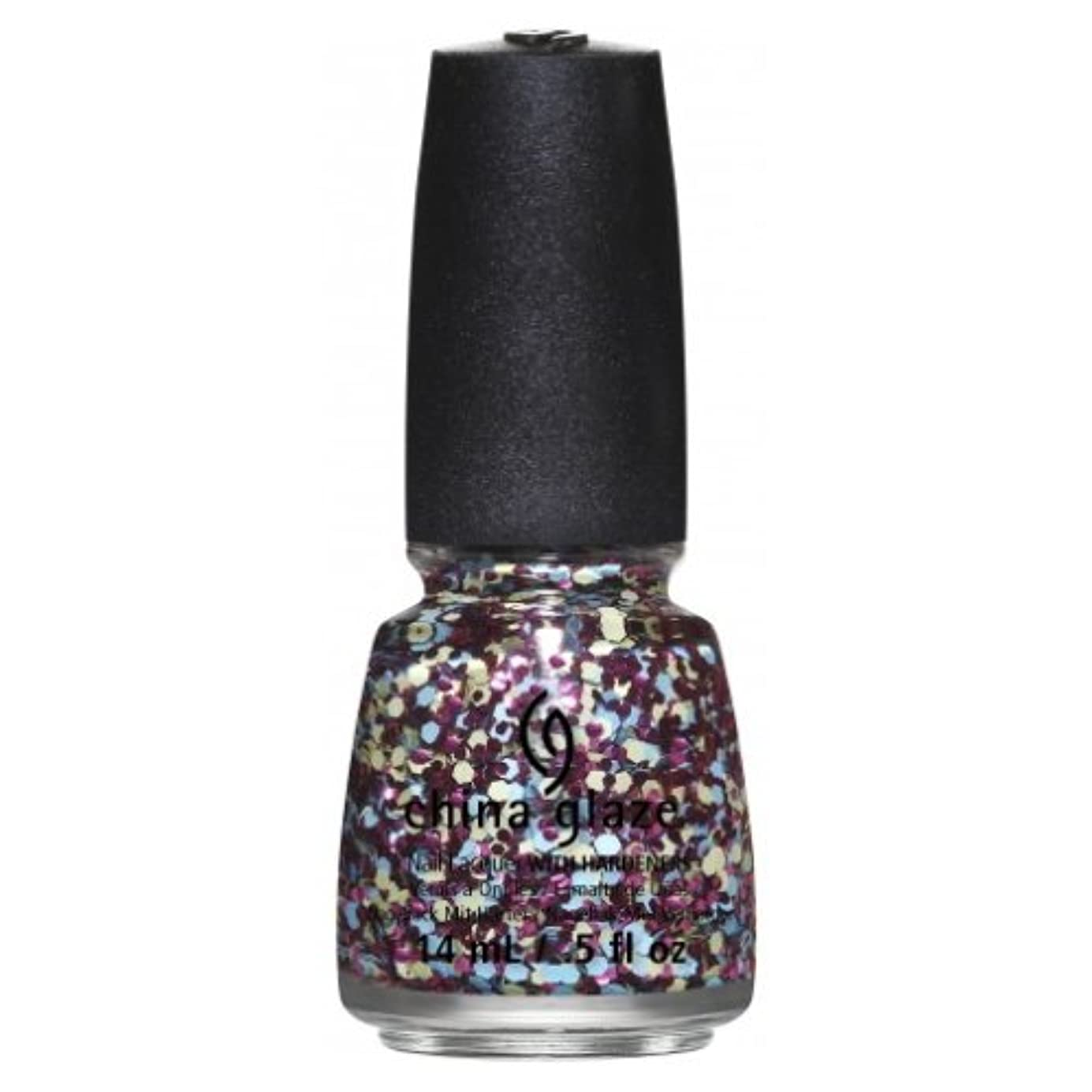 仲人吸い込む高める(6 Pack) CHINA GLAZE Nail Lacquer - Suprise Collection - I'm A Go Glitter (並行輸入品)