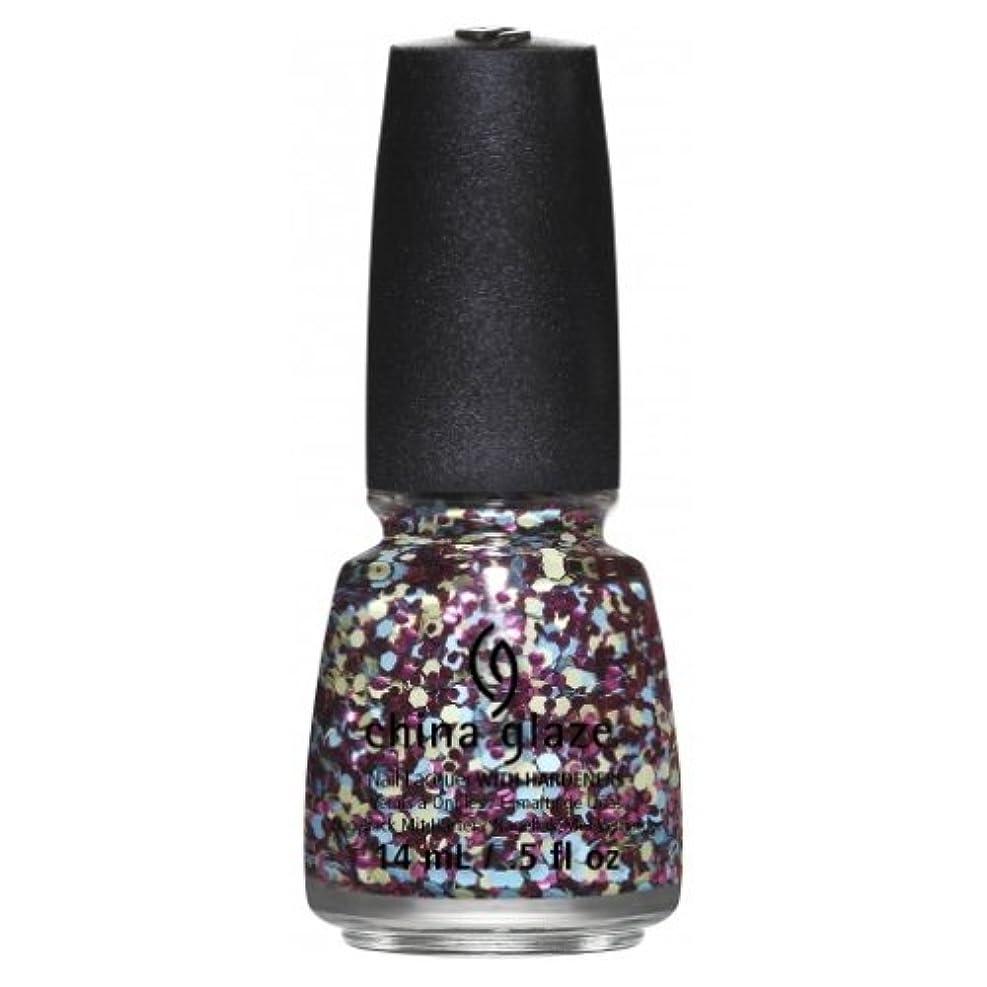 補助金残高カフェテリア(6 Pack) CHINA GLAZE Nail Lacquer - Suprise Collection - I'm A Go Glitter (並行輸入品)