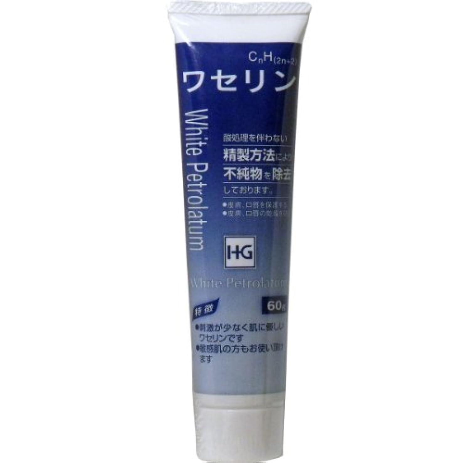 メッシュ便利正当化する皮膚保護 ワセリンHG チューブ 60g入 ×3個セット