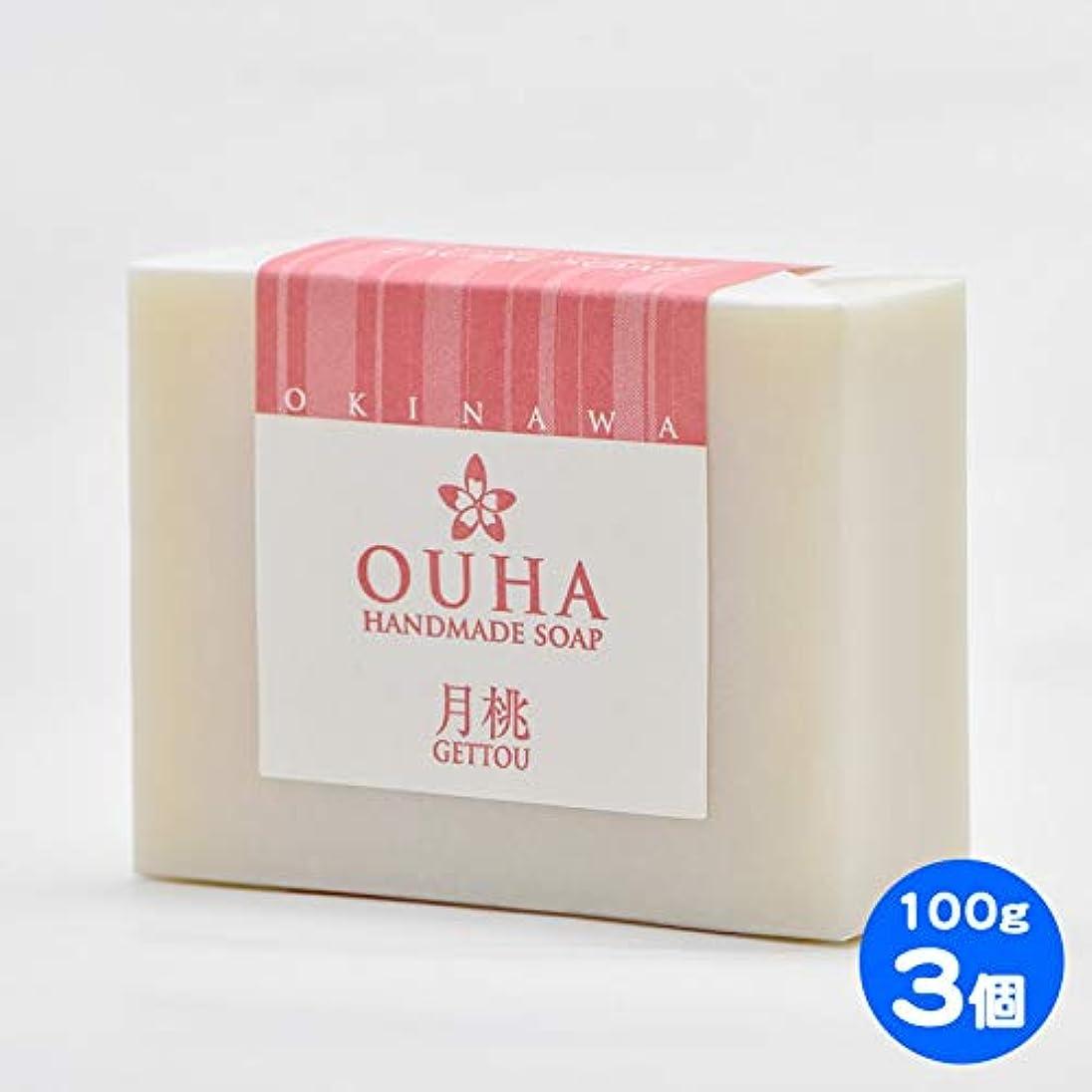満足させるレクリエーション広大な【送料無料 レターパックライト】沖縄県産 OUHAソープ 月桃 石鹸 100g 3個セット