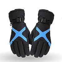 [Mooho] 防寒グローブ 冬用 保温 滑り止め付 防水 5本指防寒 通気性 フリーサイズ 手袋 自転車 登山 雪遊び (Size : M)