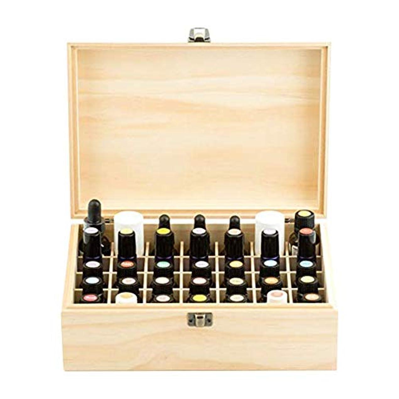 悲劇的なハイブリッド不良品エッセンシャルオイル収納ボックス 純木の精油の収納箱 香水収納ケース アロマオイル収納ボックス 35本用