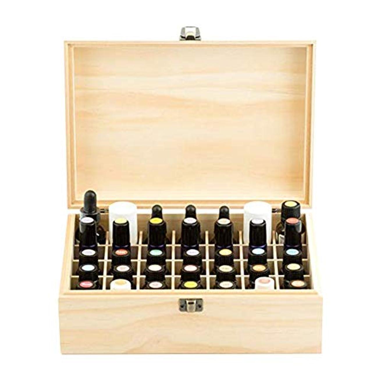 敏感なペチコート旅行者エッセンシャルオイル収納ボックス 純木の精油の収納箱 香水収納ケース アロマオイル収納ボックス 35本用