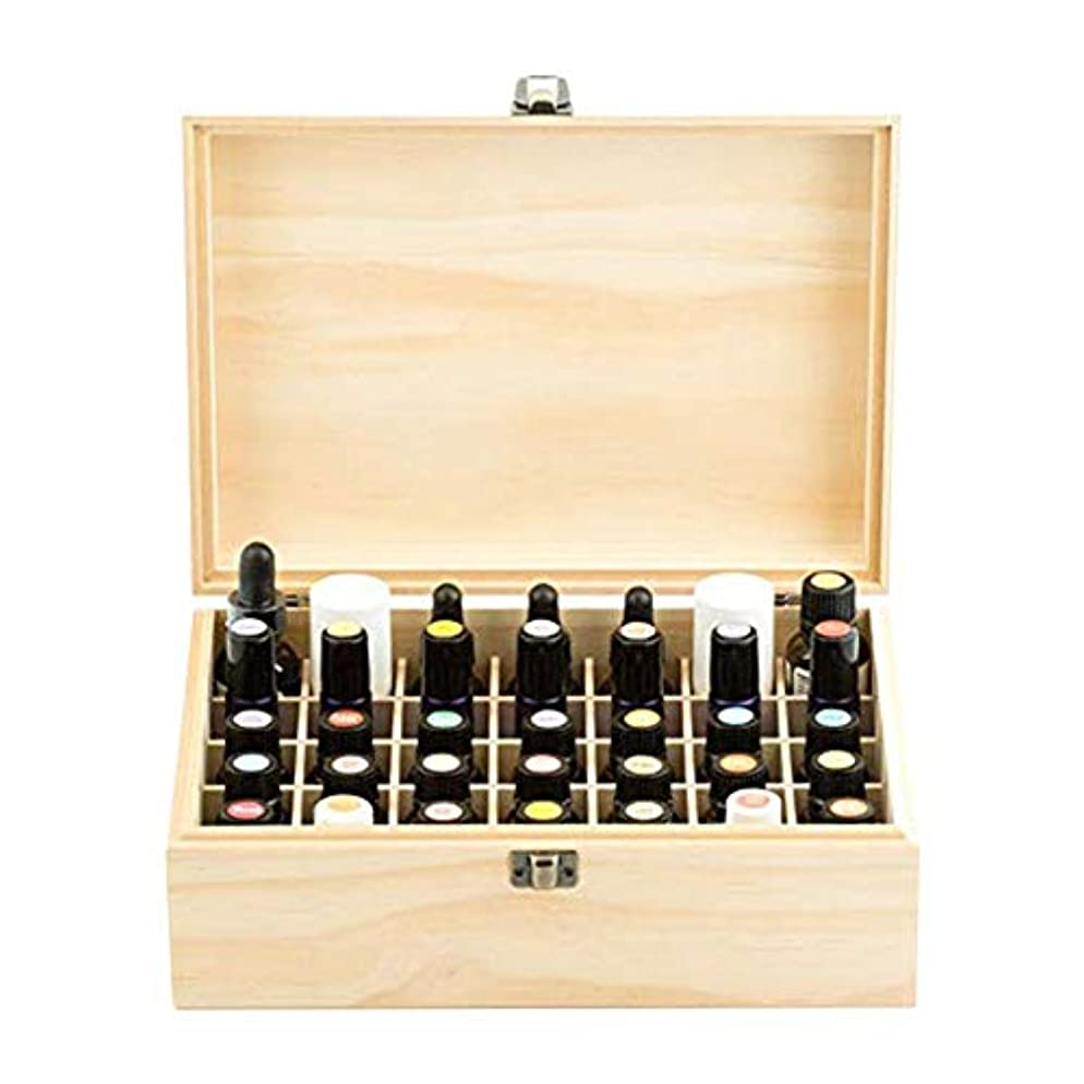 エッセンシャルオイル収納ボックス 純木の精油の収納箱 香水収納ケース アロマオイル収納ボックス 35本用
