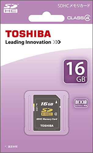 TOSHIBA SDHCカード 16GB Class4 日本製 (国内正規品) SD-L016G4