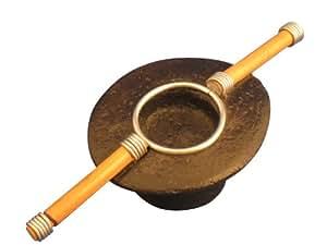 キャンドルホルダー アジアン雑貨 フィリピン産 小 (ブラック)