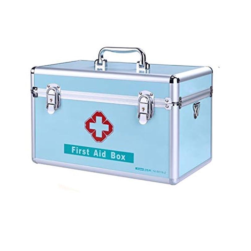 シャックル信じられない削減IUYWL 家族搭載の大容量の薬箱、金属製の薬の収納箱、家族用救急箱 (Color : A)