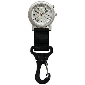 [クレファー]CREPHA フックウォッチ アナログ 5気圧防水 ELライト CB-A4152-WTB
