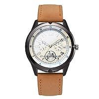 Ecotrumpjp ビジネス腕時計 メンズ ウオッチ 石英表 PUレザーバンド 小型文字盤 指針表示 多機能 シンプルデザイン カジュアル ファッション ビジネス 誕生日プレゼント ギフト