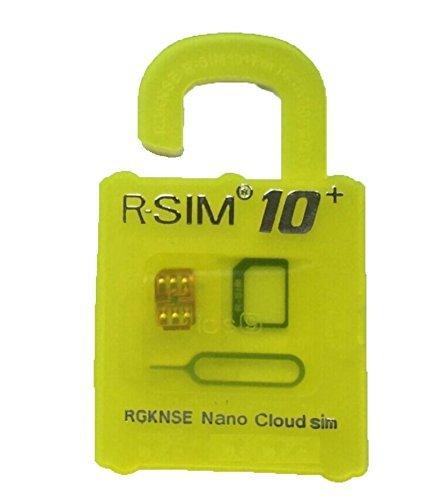 R-SIM10+ 最新 iPhoneiPhone6s / 6s plus / 6 / 6plus iPhone5S / 5C/ 5 対応 Unlock Nano-SIMロック解除アダプタ