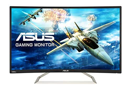 ASUS ゲーミングモニター ディスプレイ VA326H 31.5インチ VA カーブ フルHD 144HZ フリッカーフリー ブルーライト軽減 HDMI端子付 スピーカー内蔵 3年保証