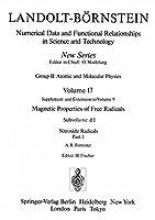 Nitroxide Radicals / Nitroxid-Radikale 1 (Landolt-Boernstein: Numerical Data and Functional Relationships in Science and Technology - New Series)