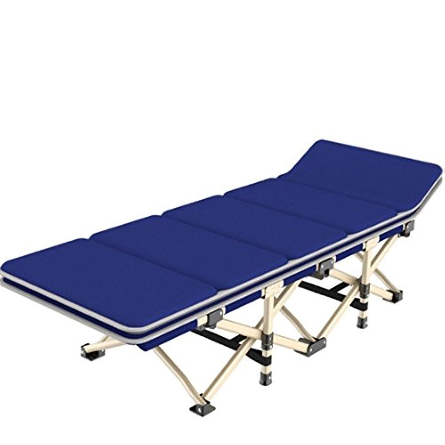 職人調査ストライク折りたたみベッド 耐荷重200kg 夏冬両用 組立不要 持ち運び便利 室内 仮眠 昼休み 簡易ベッド アウトドア キャンプ ビーチ レジャーベッド