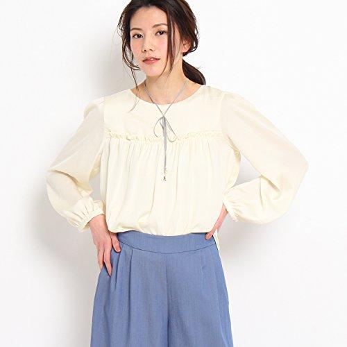 (クチュールブローチ) Couture Brooch 【WEB限定・80%OFF】ギャザーサテンブラウス 50882351 38(M) オフホワイト(003)