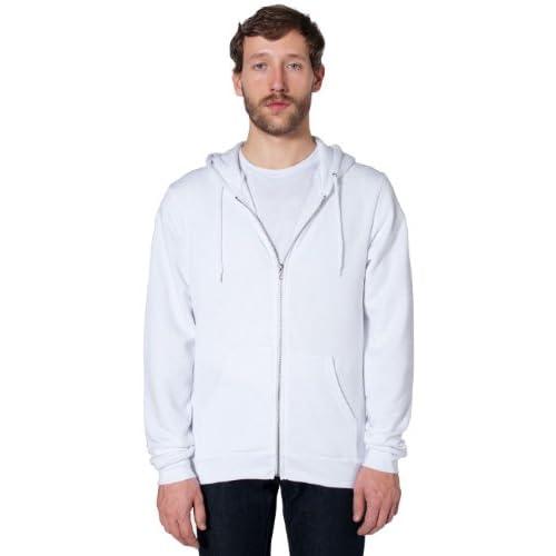 American Apparel フレックスフリースジップフーディ - White / L