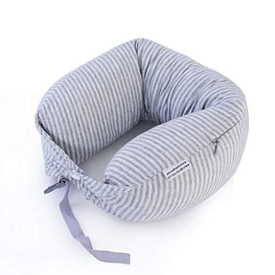 有効夜失望させるJSFQ U字型枕ラテックスポータブル大人用枕ネック枕旅行男性と女性の枕ネック枕 U字型の枕 (色 : A)