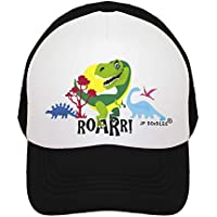 JP DOoDLES T-Rex Dinosaur on Kids Trucker Hat. Kids Baseball Cap is Available in Baby, Toddler, and Youth Sizes.