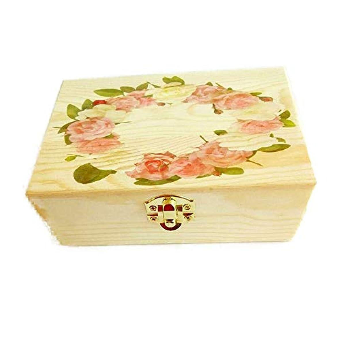 レモン魂ナースキャリングそしてホームストレージ表示のための木製のエッセンシャルオイルストレージボックスオーガナイザー アロマセラピー製品 (色 : Natural, サイズ : 15.5X10.5X5.5CM)