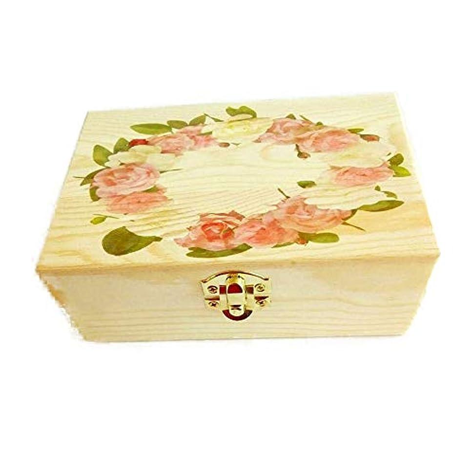 ゆり封筒爆発するエッセンシャルオイルボックス エッセンシャルオイルのポータブルストレージと表示木製収納ボックスオーガナイザー アロマセラピー収納ボックス (色 : Natural, サイズ : 15.5X10.5X5.5CM)