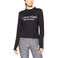 Calvin Klein Women's Logo Long Sleeve Techno Knit