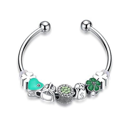 [해외]SHINA DIY 여성 성격 기질 팔찌 스털링 실버 체인 패션 정교 유럽 스타일 비즈 판도라 매력도 붙어 있습니다/SHINA DIY Ladies Personality temperament bracelet Sterling silver chain fashion fine European style beads Pandora charm can be at...
