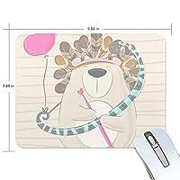かわいい動物 くま マウスパッド 滑り止めゴム製裏面 おしゃれ 厚くした 事務用のマウスパッド 携帯用 25X19CM