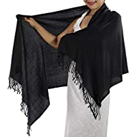 Black Pashmina Shawl - Women's Scarf