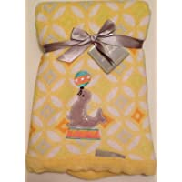 Plush Yellow Blanket - Circus Seal by Blankets and Beyond [並行輸入品]