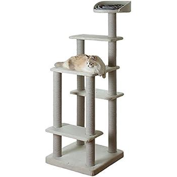 リレンティー BASICペッツデポタウン オリジナル ねこタワー シエスタ 綿縄 据え置きタイプ151cm