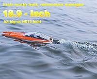 18.9インチFt016リモートコントロールボートRC潜水艦レーシング高速ボート30km +男の子用大人用レイクプールオートウォータークール、最大でFeilun ft012 rcボート