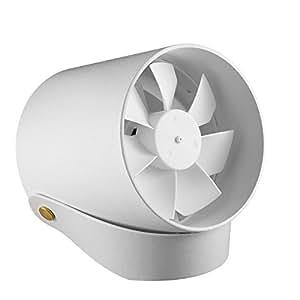 【一流デザイン性、見た事のない美しさ】Anypro USB扇風機 卓上ファン 二重羽根反転 静音 タッチスイッチ 風量2段階調節 パワフル送風 クリエイティブ付き ホワイト