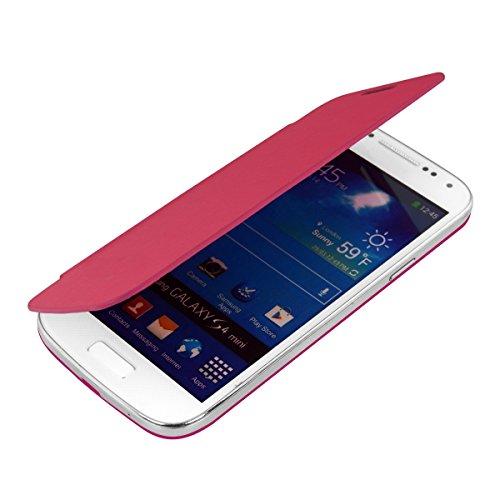 kwmobile フリップスタイル ケース カバー Samsung Galaxy S4 Mini用 ふた付き保護ケース バッグ ダークピンク
