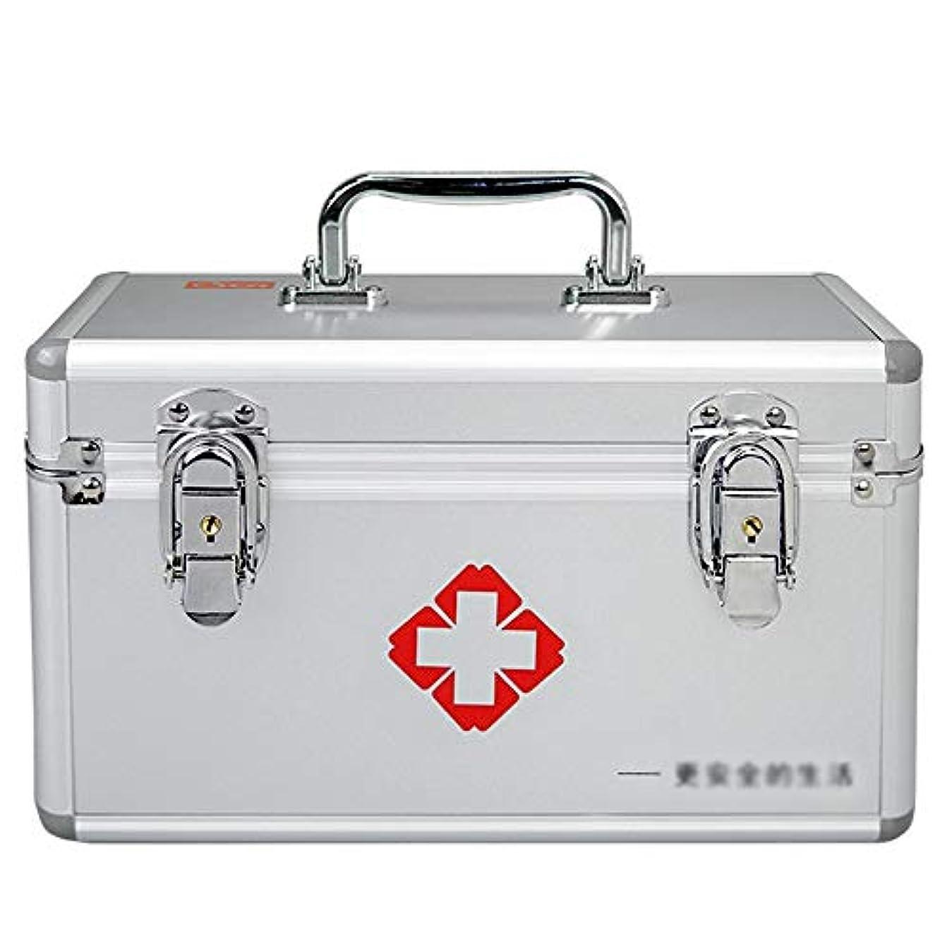 ドラッグ収納ボックス 医療ボックス - アルミプラスチックパネルアルミ合金フレーム材料、家庭用薬ボックス多層薬収納ボックス子供薬ボックス緊急医療ボックス - 3サイズオプション (サイズ さいず : 28*18*17cm)