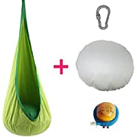 ZHENYU ハンモック ブランコ チェア スイングチェア おもちゃ 子供用 キッド用 ギフト プレゼント アウトドア 室内 自宅 耐荷重80KG (グリーン)