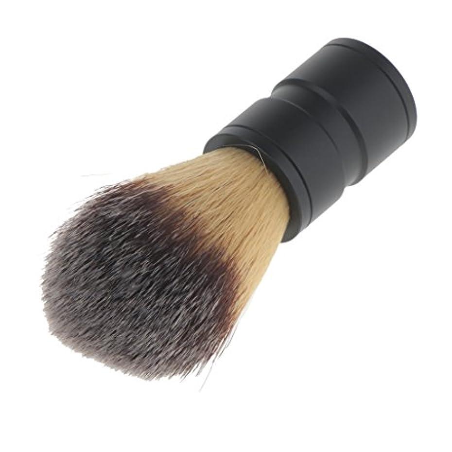 とらえどころのないキャベツ取得chiwanji 男性のためのファッションひげ剃りブラシナイロンヘア合金ハンドルバーバーツール - ブラックハンドル