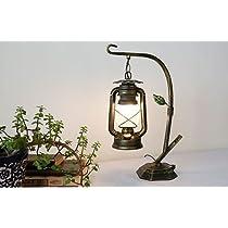 Nilight 旧式 田舎 カンテラ造型 鉄 洋式 ファッション 寝室 ナイトライト テーブルランプ 装飾ランプ (金)