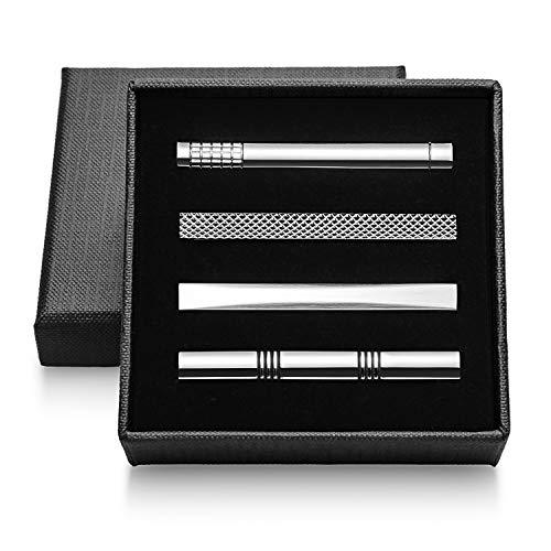 Vignac 4本セット ネクタイピン メンズ ファッション シンプル 日常仕事 結婚式 スーツ ビジネス 真鍮製 タイピン おしゃれ 高級 ギフトボックスを提供 (vic-02-16)