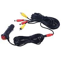 AIEK 電源 延長 ケーブル バックカメラ モニター 接続 RCA コード シガーアダプター 12V 7M バックカメラとモニター両方の電源供給