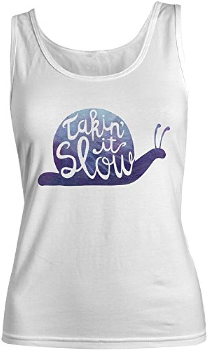 つかいます劣る発症Takin'It Slow やる気を起こさせます Inspirational レディース Tank Top Sleeveless Shirt