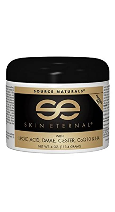 カフェ桃植物の海外直送品Source Naturals Skin Eternal Cream, 4 Oz