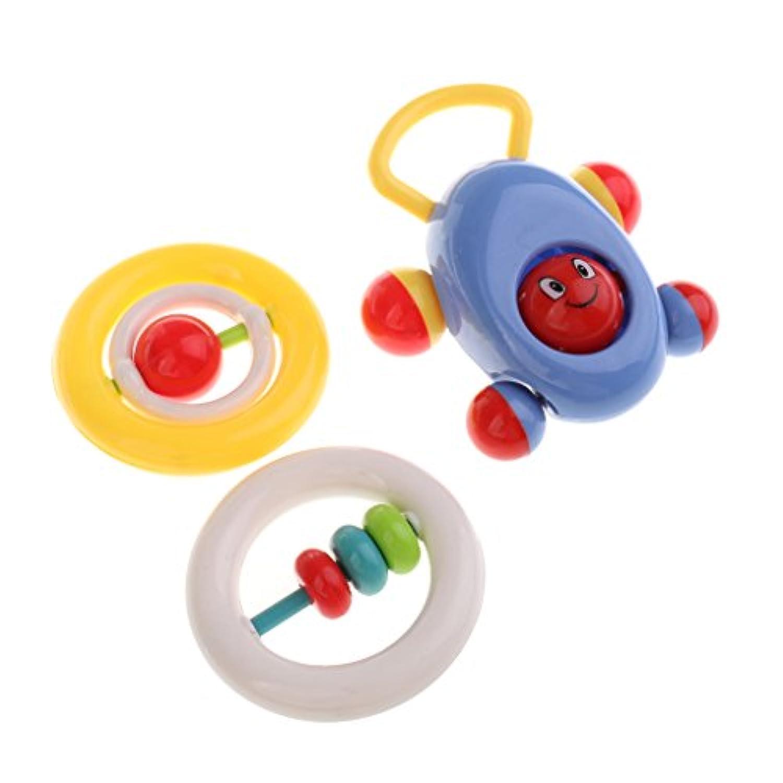 monkeyjack 3pcsベビー幼児用おもちゃRattleハンドShakingベルハンドベル幼児教育ベビーベッドベビーカーPram Toy Car Abacus