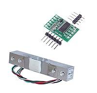 KKHMF デジタルロードセル重量センサ3KGポータブル電子キッチンスケール + HX711計量センサーモジュールArduinoと互換