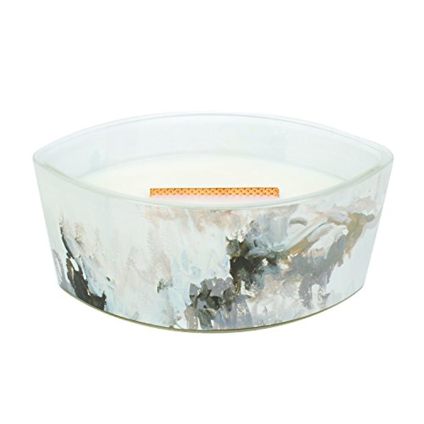 面積層嫌がらせHoney Tabac – アーティザンコレクション楕円WoodWick香りつきJar Candle