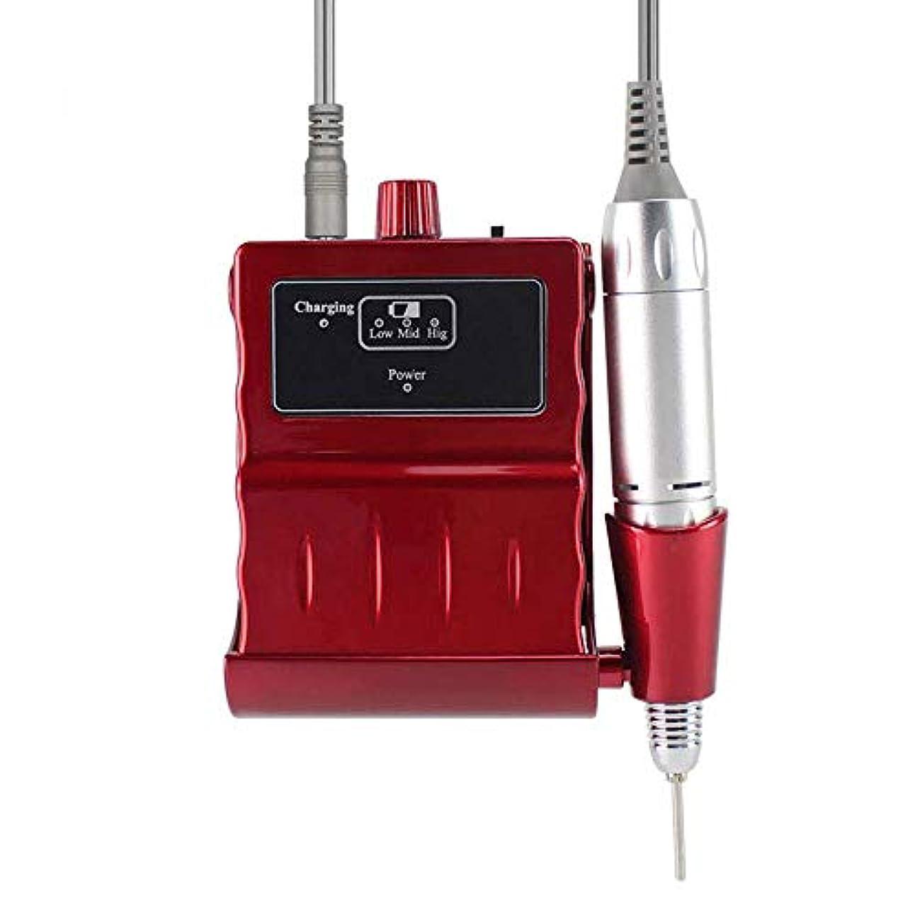 販売計画設計図タバコプロフェッショナルネイルドリルキット、電気ネイルドリルマシン30000RPM電気は6つの研削ヘッドと釘グラインダーマニキュアネイルアートツールのファイル