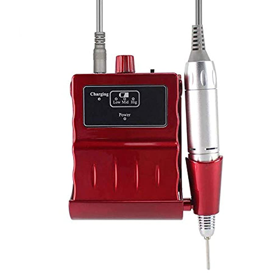 伝記ルー保証するプロフェッショナルネイルドリルキット、電気ネイルドリルマシン30000RPM電気は6つの研削ヘッドと釘グラインダーマニキュアネイルアートツールのファイル