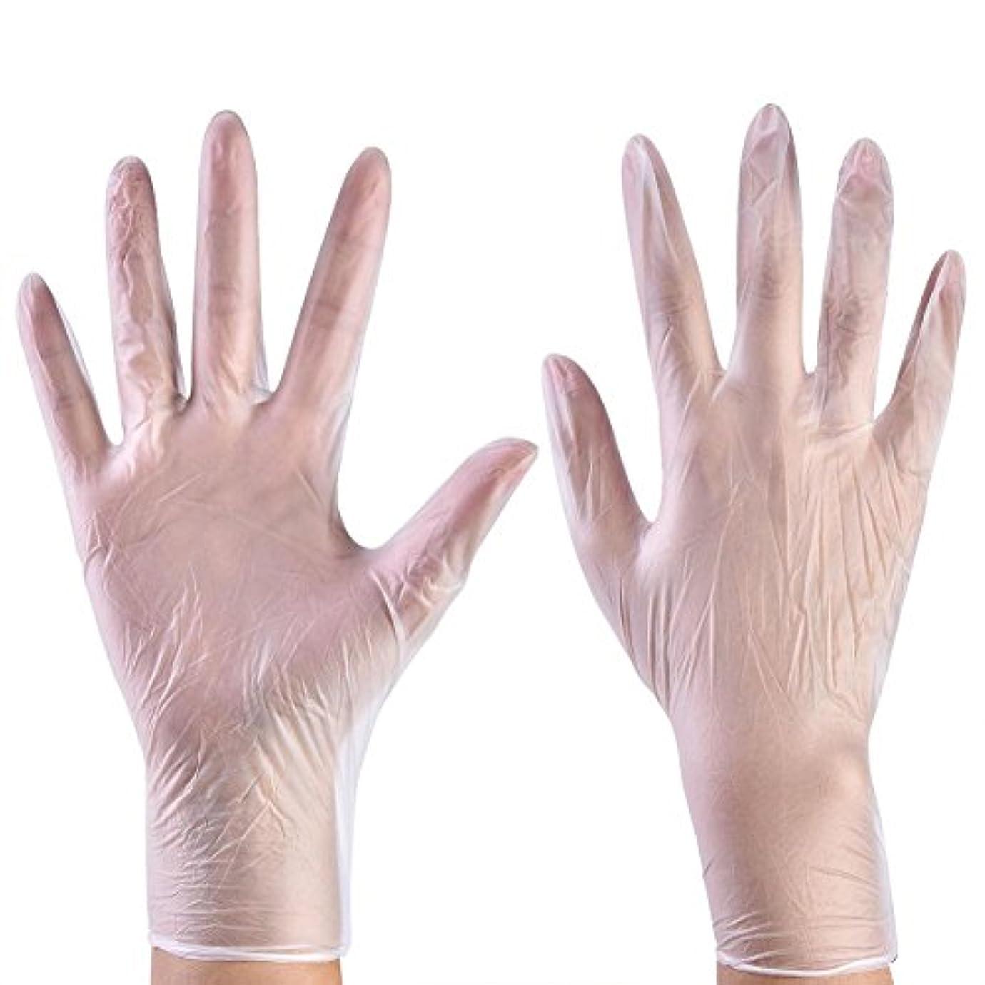 虹締める少年使い捨て手袋 ニトリルグローブ ホワイト 粉なし タトゥー/歯科/病院/研究室に適応 S/M/L選択可 100枚 左右兼用(L)
