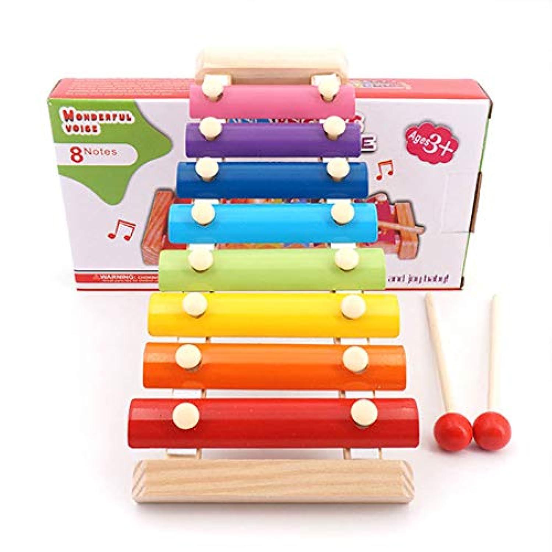 Basong 赤ちゃん打楽器の玩具 8鍵盤シロフォン 知育玩具 子供用楽器 木琴 誕生日プレゼント