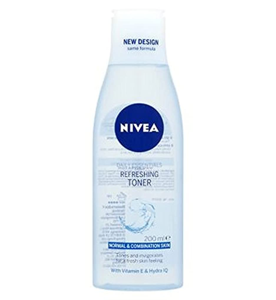 トナー200ミリリットルをリフレッシュニベア生活必需品 (Nivea) (x2) - Nivea Daily Essentials Refreshing Toner 200ml (Pack of 2) [並行輸入品]