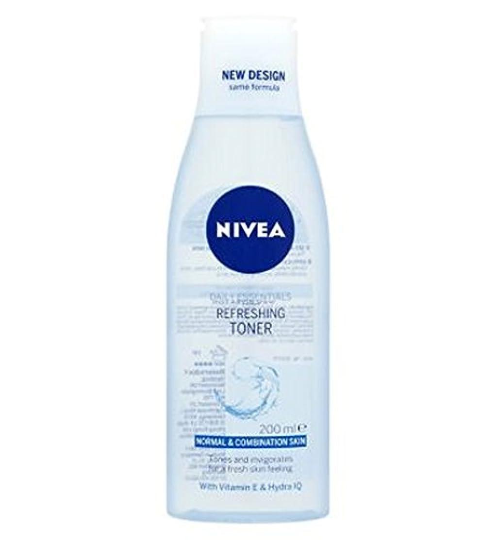 音節普通に正確にトナー200ミリリットルをリフレッシュニベア生活必需品 (Nivea) (x2) - Nivea Daily Essentials Refreshing Toner 200ml (Pack of 2) [並行輸入品]