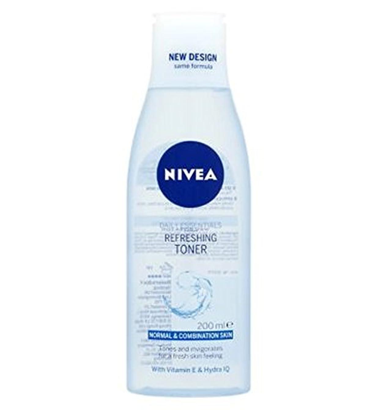 認証蘇生する終わらせるNivea Daily Essentials Refreshing Toner 200ml - トナー200ミリリットルをリフレッシュニベア生活必需品 (Nivea) [並行輸入品]